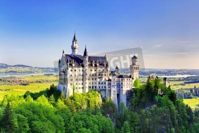 Fototapeta Piękny widok na lato Zamek Neuschwanstein w Bawarii, Niemcy Essen