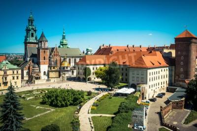 Fototapeta piękny widok na Wawelu w Krakowie