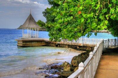 Fototapeta Pier / Beach w Montego Bay, Jamajka, Karaiby