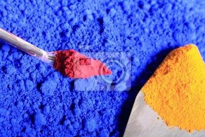 Pigmente und Arbeitsgerät
