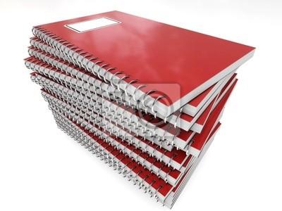 Fototapeta pila di quaderni