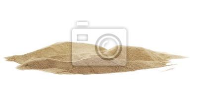 Fototapeta Pile desert sand dune isolated on white background, clipping path