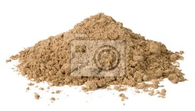 Fototapeta Pile z piasku samodzielnie na białym tle