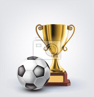 Piłka i trofeum