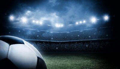 Fototapeta Piłka nożna na stadionie