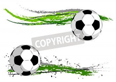 Fototapeta Piłka nożna na zielonej abstrakcyjny