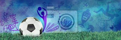 Fototapeta Piłka nożna, piłka nożna, Rosja, niebieskie tło