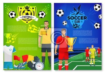 Piłka Nożna Sport Club Plakat Z Elementami Fototapety Redro