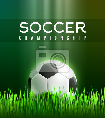 Piłka Nożna Sport Gra Plakat Z 3d Piłki Nożnej Fototapety Redro