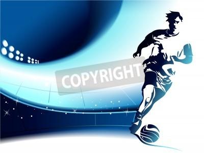 Fototapeta Piłka nożna w tle z odtwarzacza