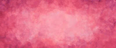 Fototapeta pink background texture, watercolor stains and blotches on border, mauve pink paper with burgundy valentine's day color