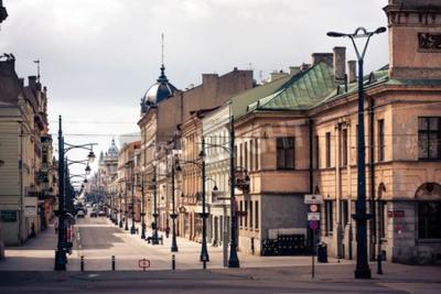 Fototapeta Piotrkowska Łódź Miasto stylizowane przefiltrowaną zdjęcie