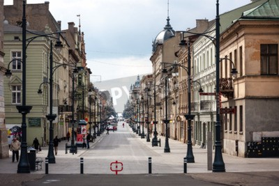 Fototapeta Piotrkowska widziana z Placu Wolności. Miasto Łódź