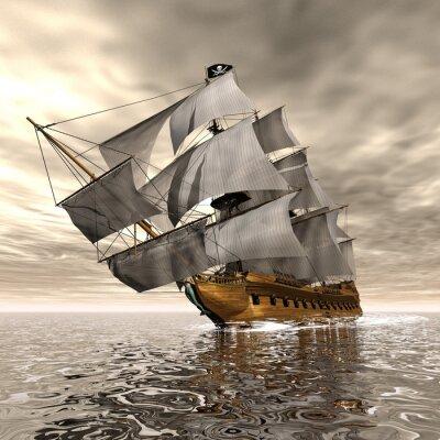 Fototapeta Pirate Ship - 3D render