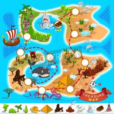 Fototapeta Pirate Treasure Map