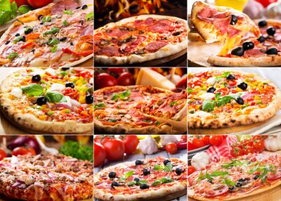Fototapeta Pizza collage