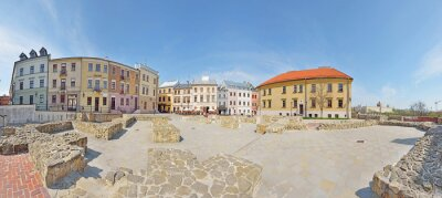 Fototapeta Plac po Farze w Lublinie -Stitched Panorama