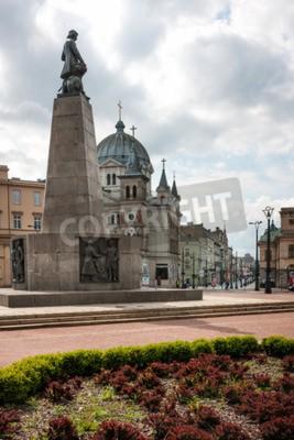 Fototapeta Plac Wolności Łódź Miasto Polska. Pomnik Tadeusza Kościuszki