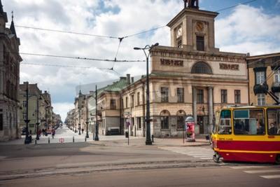 Fototapeta Plac Wolności Stary Ratusz Piotrkowska. Miasto Łódź