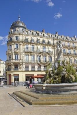 Place de la Comedie, Montpellier, Francja
