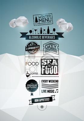 Plakat menu. Wektor tła.