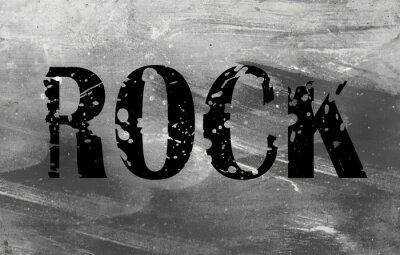 Fototapeta Plakat muzyki grunge, rock