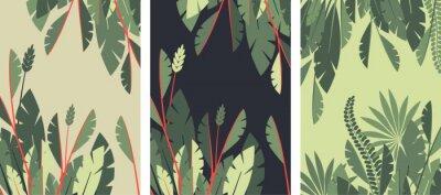 Fototapeta Plakat tropikalnych liści