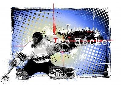 Fototapeta Plakat z hokeja na lodzie