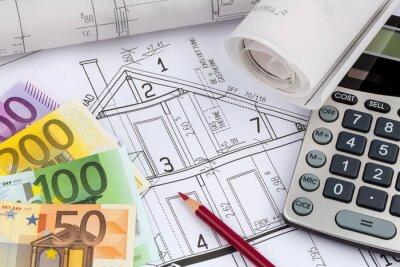 Fototapeta Plan dom z kalkulatora