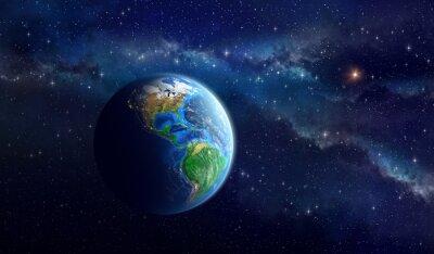 Fototapeta Planet Earth in deep space