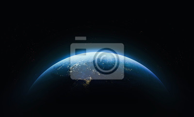 Fototapeta Planet Earth in outer space. Civilization. Elements of this image furnished by NASA