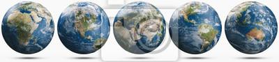 Fototapeta Planet Earth weather globe set