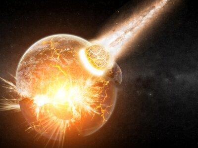 Fototapeta Planet eksplozja apokalipsa