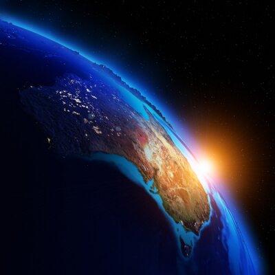 Fototapeta Planet noc map