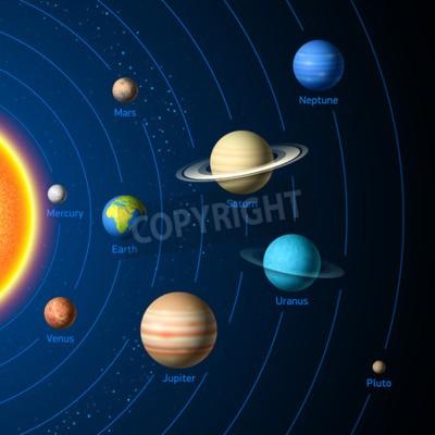 Fototapeta Planet Układu Słonecznego