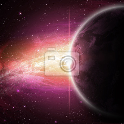 Fototapeta planet w przestrzeni