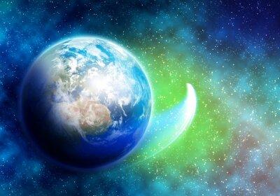 Fototapeta Planeta i satelita
