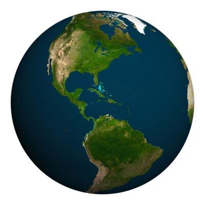 Fototapeta Planeta Ziemia. Ameryka Północna i Południowa.