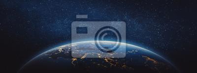 Fototapeta Planeta Ziemia - Bliski Wschód i Europa