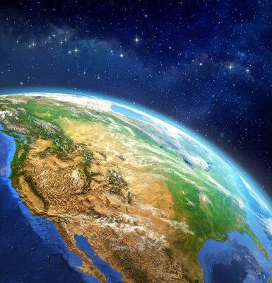 Fototapeta Planeta Ziemia w przestrzeni kosmicznej