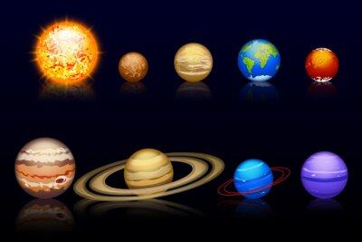 Fototapeta Planety set10