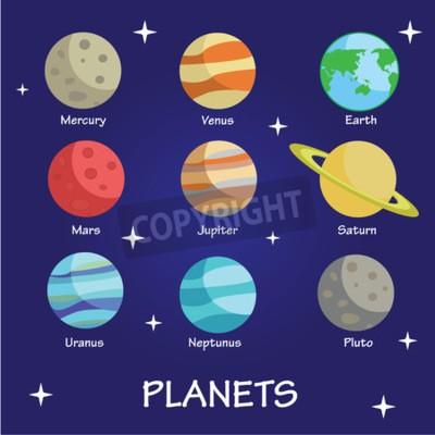Fototapeta Planety Układu Słonecznego Milkyway
