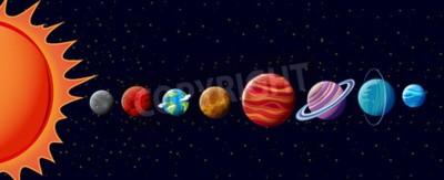 Fototapeta Planety Układu Słonecznego w ilustracji
