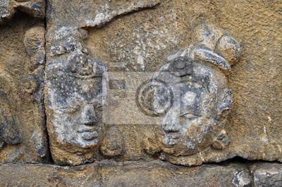 Płaskorzeźba w Borobudur Temple. Jogjakarta