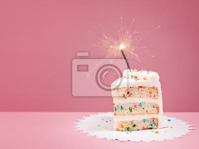 Fototapeta Plasterek Tort urodzinowy z brylant