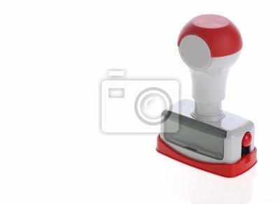 Fototapeta plastikowe narzędzia pieczęć samodzielnie na białym tle