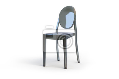Plastikowe Przezroczyste Krzesło 3d Odpłacają Się Fototapety Redro