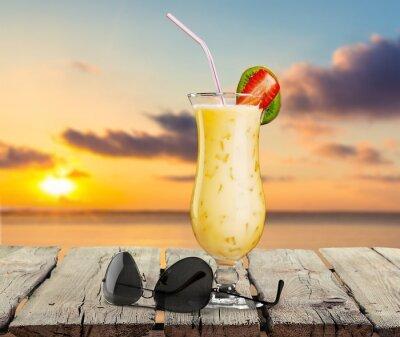 Fototapeta Plaża, koktajl, pić.