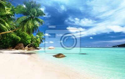 plaża na wyspie Mahe, Seszele