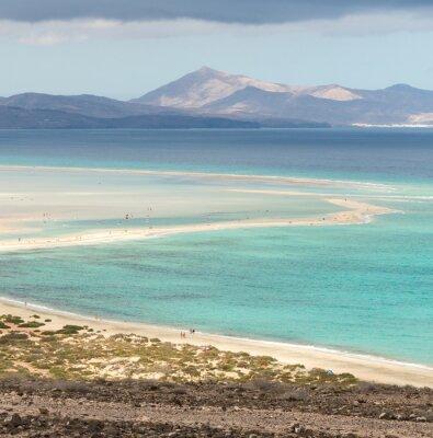 Fototapeta Plaża Playa de Sotavento, Wyspy Kanaryjskie, Fuerteventura, Hiszpania